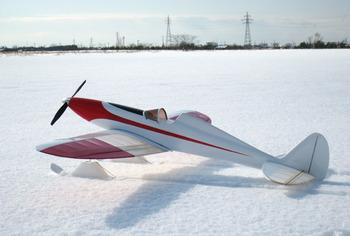 スキーをはいた Silky Wind 400S