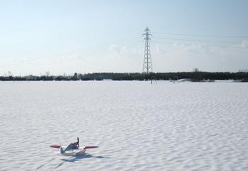 豪雪の飛行場