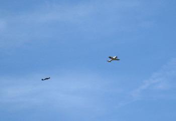 ランデブーする Fw190Dと一式戦隼