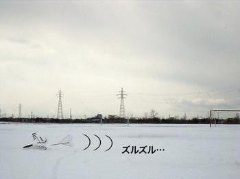 雪上をはい回るSavanna